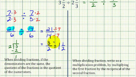 Ex5: Division Involving Mixed Numbers - Compare Alternative and Traditional Methods
