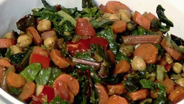 Indian Inspired Swiss Chard and Chick Peas
