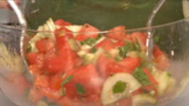 Watermelon Tomato Cucumber Salad