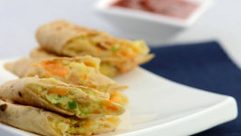 Stuffed Cabbage, Carrot and Cheese Rolls by Tarla Dalal