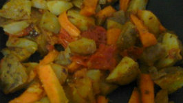 Carrot Potato Stir Fry