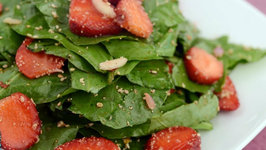 Strawberry Spinach Salad by Tarla Dalal