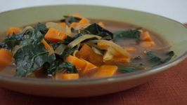 African Kale and Yam Soup