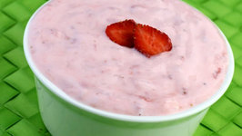 Strawberry Yoghurt (Low Calorie) by Tarla Dalal