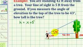 Example:  Determine the Height of an Object Using a Trig Equation