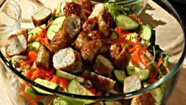 Vietnamese Salad with Shrimp & Lemongrass Meatballs