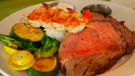 Sterling Silver Prime Rib with Sauted Veggies at Splasher's Grill