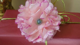 Tissue paper flowers with colored edge decorations video by tissue paper flowers with colored edg mightylinksfo