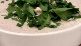 Garlic Mushroom and Avocado Soup