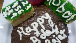 Chocolate And Cream Birthday Cake