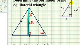 Example:  Determine the Perimeter of an Equilateral Triangle Given the Height