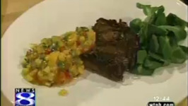 Herb Crusted Fillet Mignon With Mango And Corn Salas