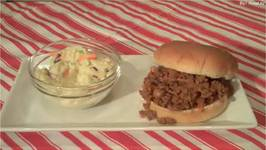 Sloppy Joe's and Cole Slaw Easy Entertaining