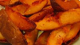 Deep Fried Potato Wedges
