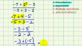 Ex 7:  Simplify Expressions Involving Integers Using the Order of Operations