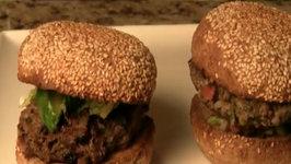 Greek Style, Grass-Fed Lamb Burgers