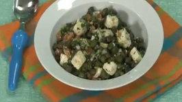 Paneer aur Hare Chane ka Salad