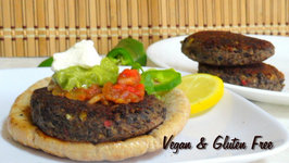 Quick Healthy Black Bean Burger by Bhavna - Vegan & Gluten Free