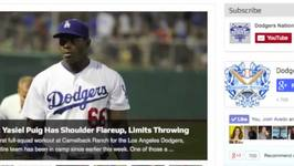 Dodgers International Signings, Yasiel Puig Limited Throwing at Spring Training