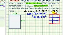 Ex: Unit Conversion / Proportion Application -  Cost of Carpet