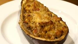 Grecian Lamb Stuffed Eggplant