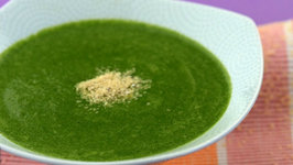 Spinach and Carrot Soup (Vitamin A & E Rich) by Tarla Dalal