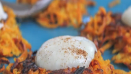 Curry Sweet Potato Latke Recipe with Maple Greek Yogurt