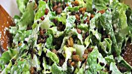 Vegan Caesar Salad with Bacon Bits