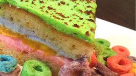 Triple Colored Mango Cake