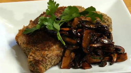 Sicilian Breaded Ribeye with Balsamic Sauteed Mushrooms