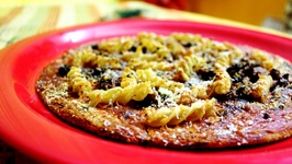 High Fiber Pizza Crust with Healthy Mince Meat Pasta Topping