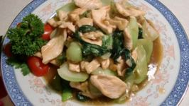 Chicken with Oyster Sauce and Pak Choi