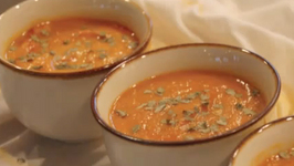 Holiday Special Carrot Coconut Bisque with Indian Aromatics
