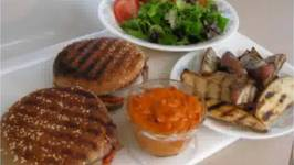 Grilled Panini Burgers