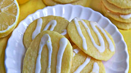 Lemon Ricotta Sugar Cookies with Lemon Glaze