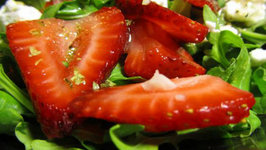 Strawberry Tomato Arugula Salad
