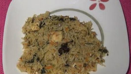 Spinach Rice (Healthy Protein Rich Green Rice)