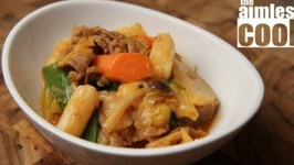 Tteokbokki - Korean Rice Cakes in Savory Miso and Gochujang Sauce