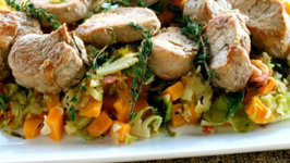 Pork Medallions with Autumn Hash