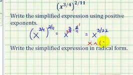 Write Basic Expression in Radical Form And Using Rational ...
