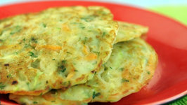 Zucchini and Carrot Pancake (Low Calorie Healthy Breakfast) by Tarla Dalal