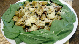 Orecchiette Pasta with Sausage Sundried Tomatoes Basil and Scrambled Eggs