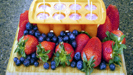California Giant Strawberry and Blueberry breakfast Berry Smoothie and Popsicles