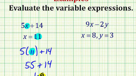 Examples Part 1:  Evaluating Variable Expressions