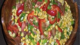 Corn Salad with Apple Cider Vinaigrette