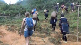 Hike to Explore Lao Chai Village (Black Hmong)  Trekking in Sapa, Vietnam Travel Video (Part 1)
