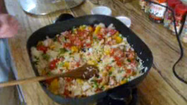 Mexican Enchiladas and Spanish Rice
