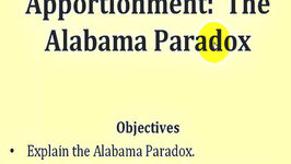 Apportionment: The Alabama Paradox