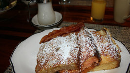 Easy French Toast with Cream