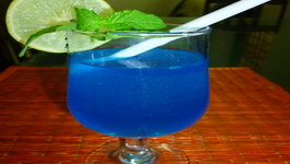 Blue Lagoon Cocktail /Mocktail With Desi Citrus Twist